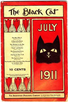 """The Black Cat"" magazine cover - July 1911"