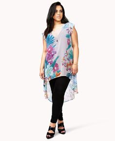 Tropical Print High-low top.  I don't really like the high low tops but this is really cute