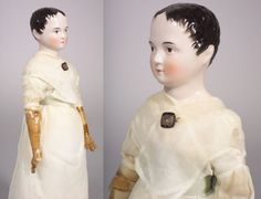 Early Pink Tint China Shoulder Head Doll with Win