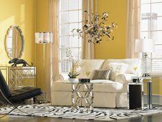 contemporary glamour living room decor