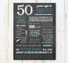 50th birthday gift for husband dad grandpa by LillyLaManch