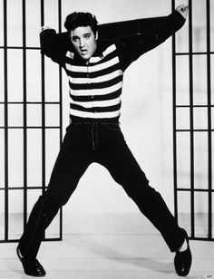 Jailhouse Rock Chic | Though a heart attack robbed us of the King of Rock 'n Roll in 1977, Elvis started plenty of stylish trends that have taken on lives of their own.  So power up those jukeboxes and pay your respects to the King's classic looks