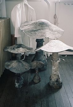 toadstool stools for the garden