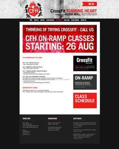 CrossFit Flaming Heart Website by Jonno Schultz, via Behance