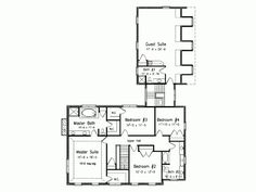 Floor plan 4 bedrooms + guest room/suite