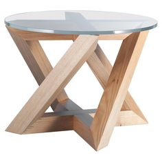 """""""RK"""" Modern Wood Side Table with Circle Crystal Extra White Glass Top table circle Antique End Tables - For Sale at Glass Top Side Table, Wooden Plane, Modern Side Table, Modern Furniture, Rustic Furniture, Painted Furniture, Furniture Design, Japanese Furniture, Minimalist Furniture"""