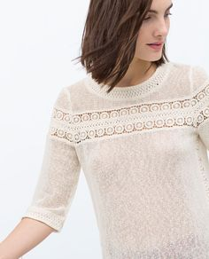Zara s/s 2015 Boho Outfits, Casual Outfits, Zara, High Fashion Dresses, Casual Tops For Women, Casual Summer Dresses, Western Wear, Tunic Tops, Crochet Tops