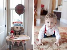 If you haven't considered a Sock Monkey theme for your son's first birthday – you need to add it to the list of possibilities! Jennifer at Hello Love Designs, LLC designed a truly adorable Sock Monkey themed party for her nephew's first birthday. This theme started in Kason's nursery, which is decked out in Sock Monkey style. The party started right from the front steps, with a delightful display complete with Sock Monkey wreath.