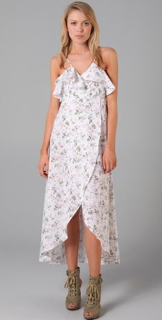 Daughters Of The Revolution Peony Long Wrap Dress thestylecure.com