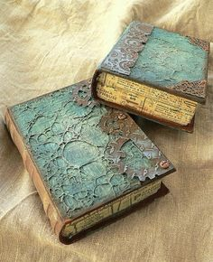 Books of Ruination - love the texture! / This book appears to have been altered to create a secret box for hiding items. / Love it <3