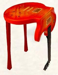 Bent Guitar Table -Gibson Les Paul -Sunburst  For the man cave!