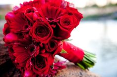 color...Red Bouquet Fall Spring Summer Winter Wedding Flowers Photos & Pictures - WeddingWire.com