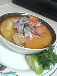 Encebollado de pescado (Ecuadorian dish) latin food