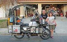 Kevin and Karen Browne's motorcycle certainly turns some heads. If you want to know the back story, click the photo to read our feature story from the June 2014 issue of Rider magazine.