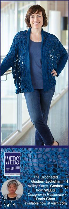 #Crochet jacket pattern by Doris Chan for sale through WEBS