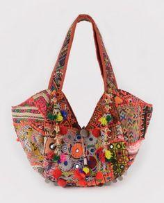 vintage mirror work/embroidery bag. Hippie chic, Bohemian