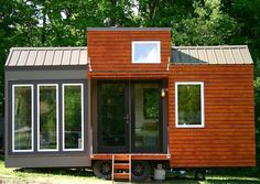 "Adam Leu has the height of an NBA small forward, 6' 7"", and wasn't satisfied with just a standard tiny house.  So he modified a couple plans by tiny-house enthusiast Michael Janzen and created the Tall Man's Tiny House.  It's 21-feet long, 13' 3"" tall (total, not the interior), and includes three roomy segments of…"