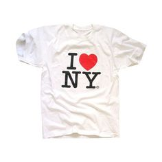 Amazon.com: I Love New York T-Shirt, Officially Licensed Crewneck... ($12) ❤ liked on Polyvore featuring tops, t-shirts, crew neck tee, henley tee, white crop top, white tee e i heart t shirts