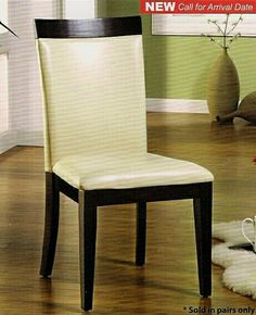 """Set of 2 Evious I Side Chair Upholstered Seat and Back in an Espresso Wood Finish Frame. Side Chair measures: 23""""W x 21 1/2""""D x 39 1/2"""". Some Assembly Required. SKU CM3423SC"""