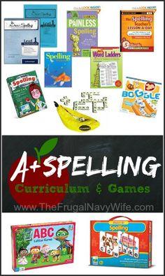 Homeschool Curriculum: A+ Spelling Curriculum and Games List