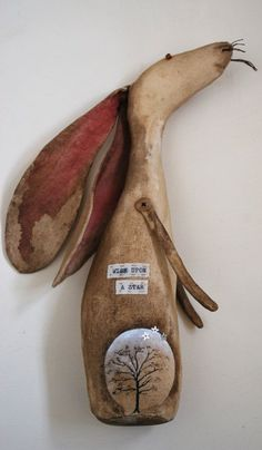 Hare sculpture magical hare by LaineyWhitworthArt on Etsy, £25.00