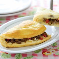 Fluffy Diner Style Cheese Omelet: These hearty omelets are filling enough for a main course.
