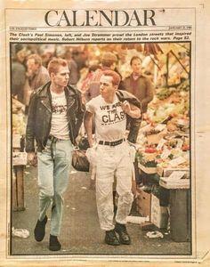 Joe Strummer and Paul Simon l