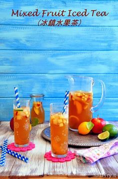 Mixed Fruit Iced Tea (冰鎮水果茶): A refreshing and popular drink from Taiwanese cafes.   http://uTry.it