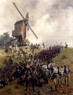 At Waterloo in Belgium, Napoleon Bonaparte suffers defeat at the hands of the Duke of Wellington, bringing an end to. Waterloo 1815, Battle Of Waterloo, Empire, Military Art, Military History, Waterloo Battlefield, Ville France, French Army, French Revolution