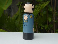 Space Traveler Whittle peg doll by WinkysWhittles on Etsy, $15.00