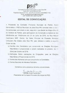 RN POLITICA EM DIA: EDITAL DE CONVOCAÇÃO DE CONVENÇÃO: PARTIDO SOCIAL ...