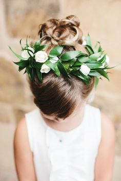 Classically Elegant California Wedding - flower girl hairstyle
