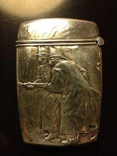 Antique Kerr Sterling Silver firemen Insurance Adv Match Safe Vesta Case Box NY | eBay