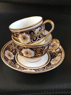 Antique Spode Pattern 893 Tea Cup & Saucer C1805 Plus Coffee Cup