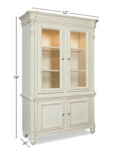 Westport Dining Room Curio (shown in white finish)