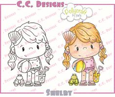 "C.C. Designs Pollycraft ""Shelby"" Rubber Stamp PRICE: $5.10 at Quick Creations! #pollycraft #ccdesignsrubberstamps #beach #stamping #cardmaking"