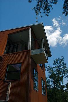 Burgin's Ridge Rd |Private Porch |  Form & Function Architecture
