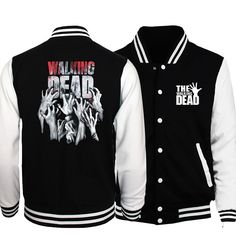 Hot Sale 2017 New The Walking Dead Men Coat Hip Hop Baseball Jacket Fashion Casual Slim Fit Mens Spring Jackets Hoodies S-2XL