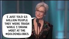 Entertainers... Prostitute themselves on the screen for money and we are supposed to listen to what they have to say about politics. I only listen to respectable people and yep that leaves out most of Hollywood!