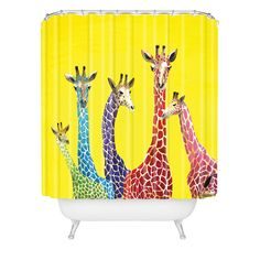 Deny Designs Clara Nilles Jellybean Giraffes Shower Curtain , 69' x 90' *** To view further, visit now (This is an amazon affiliate link. I may earn commission from it)