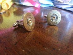 Shotgun Shell Wedding or Formal Wear Cufflinks via Etsy