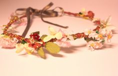 Bohemian flower crown hairband. Rustic floral by SheSellsHeart, £20.00