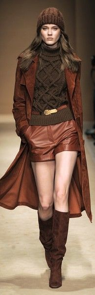 """From the Archives: Again, I am SO excited for Fall. I feel inspired by the season and the crisp New England air gets my creative juices flowing. This look is still on trend and an Autumn inspiration. This is Monika """"Jac"""" Jagaciak for Salvatore Ferragamo Fall 2010. <3"""