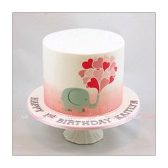 My baby girls 1st birthday cake - by Twotwoz @ CakesDecor.com - cake decorating website