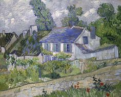 Vincent van Gogh - Houses at Auvers, 1890, May 3rd, 2016 Art Institute of Chicago exhibit