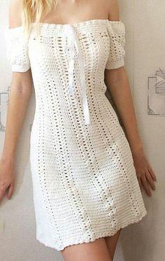Ideas For Crochet Summer Dress Pattern Fashion Crochet Summer Dresses, Summer Dress Patterns, Crochet Skirts, Crochet Fabric, Crochet Clothes, Crochet Lace, Diy Clothes, Crochet Outfits, Doilies Crochet
