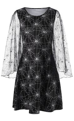 Spider Web Print Dress to wear now.Dresslily com offers the latest high quality dresses at great prices.Free Shipping Worldwide!