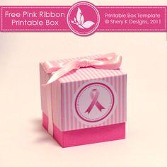 Free Printable: Box - Pink Ribbon | Free Download Cute Printables Template