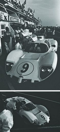 Chaparral 2D at LeMans in '66. Photos by Dave Friedman.