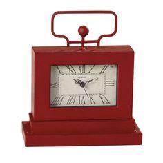 Distressed Red Desk Clock